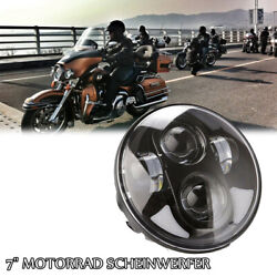 Motorcycle 7'' Led Headlight Hi/lo Beam H4 H13 Bulb Projector For Harley Touring
