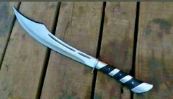 Custom Beautiful D2 Blade Hunting Knife With Steel Bolsters And Buffalo Horn17and039and039