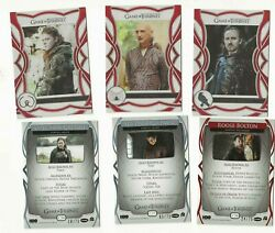 2020 Game Of Thrones 100-card Character Parallel Set / Cards Numbered X/75