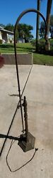 Antique 1900and039s Slag Lamp Stand Brass Bronze H.a. Best Lamp Co. Chicago Il