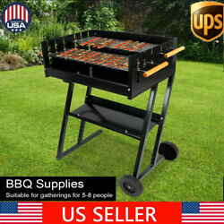 Bbq Charcoal Grill W/ Wheels Portable Party Outdoor Patio Garden Barbecue