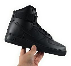 Nike Air Force 1 High And03907 And039triple Blackand039 Men Size 7.5/women Size 9 [cw2290-001]