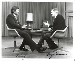 Edward Ted Kennedy - Autographed Signed Photograph Co-signed By Hugh Downs