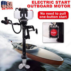 ⭐⭐2 Stroke 3.6hp⭐⭐ Heavy Duty Outboard Motor Boat Engine W/water Cooled Systems