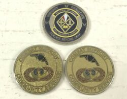 Lot Of 3 Military Us Air Force Challenge Coins