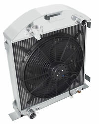 1928-1929 Ford Model A Radiator And 16 Fan For Ford Motor V8 3 Row Champion