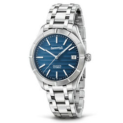 Menand039s Watch Eberhard Aquadate Big Taielle Automatic Blue 41041.02 New