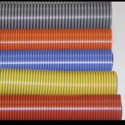 1 1/2andrdquo Id X 45andrsquo Truckmount / Ihelix Carpet Cleaning Vac Hose.welded Cuffs Blue