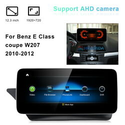 12.3 Car Gps Navigation Stereo Wifi Android For Mercedes Benz E Class Coupe