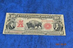 1901 10 Buffalo Red Seal United States Note