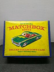 Vintage 1968 Official Matchbox Series Deluxe Collectorand039s Case - 72ct. 1/64