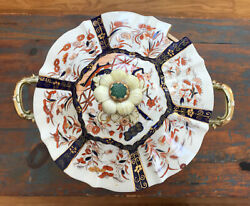 Antique Mason's Ironstone Gilded Chinoiserie Lidded Soup Tureen With Under Tray