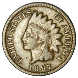 1887 Indian Head 1 Cent Penny  Priced Right