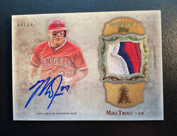 2013 Topps Five Star Mike Trout Patch Autograph /10 Ssp Rare