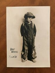 1921 Original Type 1 Autographed Photo Jackie Coogan Charlie Chaplinand039s The Kid
