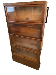 Antique Globe-wernicke Co. Barrister Sectional Bookcase - 4 Drawers - 6 Pieces