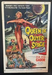 Queen Of Outer Space Original Movie Poster - Zsa Zsa Gabor  Hollywood Posters