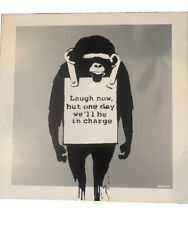 Banksy Laugh Now/keep It Real Monkey Album. Silver Edition.