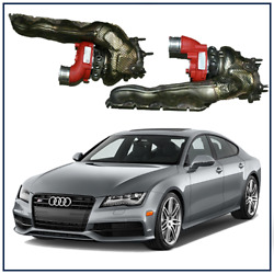 2014 Audi S7 4.0t Stage 2 Upgraded Billet Wheel Turbochargers W/ Manifolds