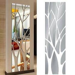 Home Modern Mirror Tree Decal Art Mural Wall Sticker DIY Decorations Removable