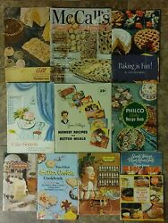 Vintage Lot Of 11 Cookbook Booklets Cookies Holiday Recipes Pillsbury Lobster