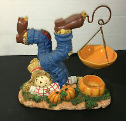 HTF Yankee Candle Fall Scarecrow Halloween Harvest Hanging Tart Warmer Retired