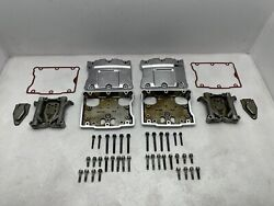 99-17 Harley Touring Dyna Softail Chrome Top Bottom Engine Rocker Boxes Arms