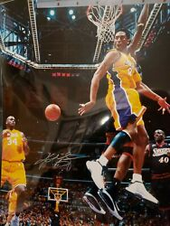 Kobe Bryant Signed Los Angeles Lakers 16x20 Photo Psa Passing 2 Shaquille Oand039neal