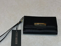 STEVE MADDEN Flap Wallet Wristlet Women#x27;s Bcellie Black New With Tags. $34.99