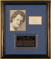 Harry Chapin - Autograph Quotation Signed