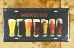 Kitchen Plaques Brewhouse Beer Pub Club Tin Sign Car Plate
