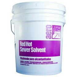 7062 Aero Red Hot Sewer Solvent Granulated - Lot Of 12 Ea. 50 Pails