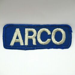 Vintage Patch - Uniform - Arco Gas Stations - Embroidered - Collectible - 4 1/2
