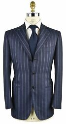New Cesare Attolini Suit 100 Wool 110and039s Sz 38 Us 48 Eu 7r Ats167