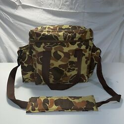 Super Cooler Insulated Duck Camo Collapsible Soft Carry Tote Bag Made Usa Hunt