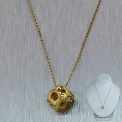And Co. 18k Yellow Gold Meteorite Diamond 16 Necklace