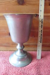 Vintage Pewter Goblet Xl Woodbury Pewterers Greenfield Village Henry Ford Museum
