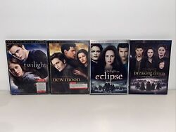 Twilight 4 Dvd Lot New Moon Eclipse Breaking Dawn Part 2 Deluxe Editions