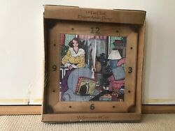 Laura Mostaghel Porcelain Tile Wall Clock. New In Package.