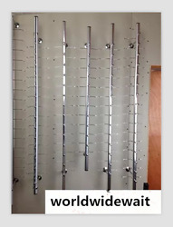 50pcs Wall-mounted Sunglasses Racks Display Stand 1.6m No Lock For 21 Frames