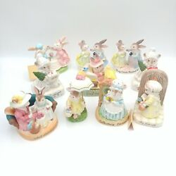Vintage Avon Figurines Cherished Moments Bunnies And Mice Lot Of 10