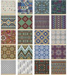 Ambesonne Ethnic Theme Microfiber Fabric By The Yard For Arts And Crafts