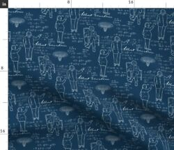 Einstein Physics Science Math Equations Black Spoonflower Fabric By The Yard