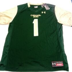 Under Armour 1 Green Colorado State Rams Football Jersey Size 2xl