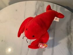 Very Rare Retired Pinchers The Lobster Ty Beanie Babies With Pvc Pelletsandnbsp