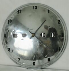 Buick Small Disk Hubcap Clock 1949 - 1950- Dog Dish - Rat Rod