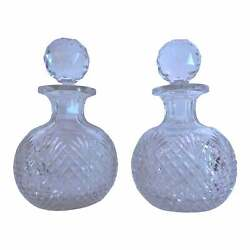 19th Century American Brilliant Cut Glass Decanters, Attributed To T.g. Hawkes