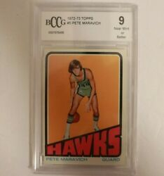 1972 Topps Basketball Pete Maravich 5 Bccg 9