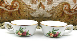 Lovely Vintage 1962 Set Of 2 Royal Albert Old Country Roses Tea Cups