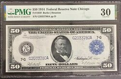 1914 50 Federal Reserve Note - Chicago - Fr 1050 Gorgeous Note And Artwork
